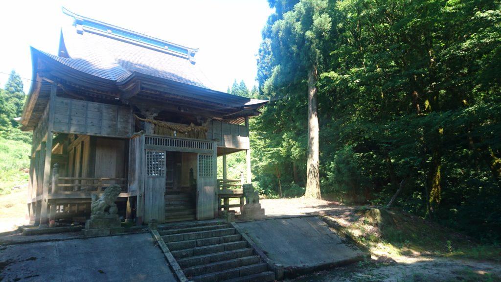蘭木村・石動社・社殿