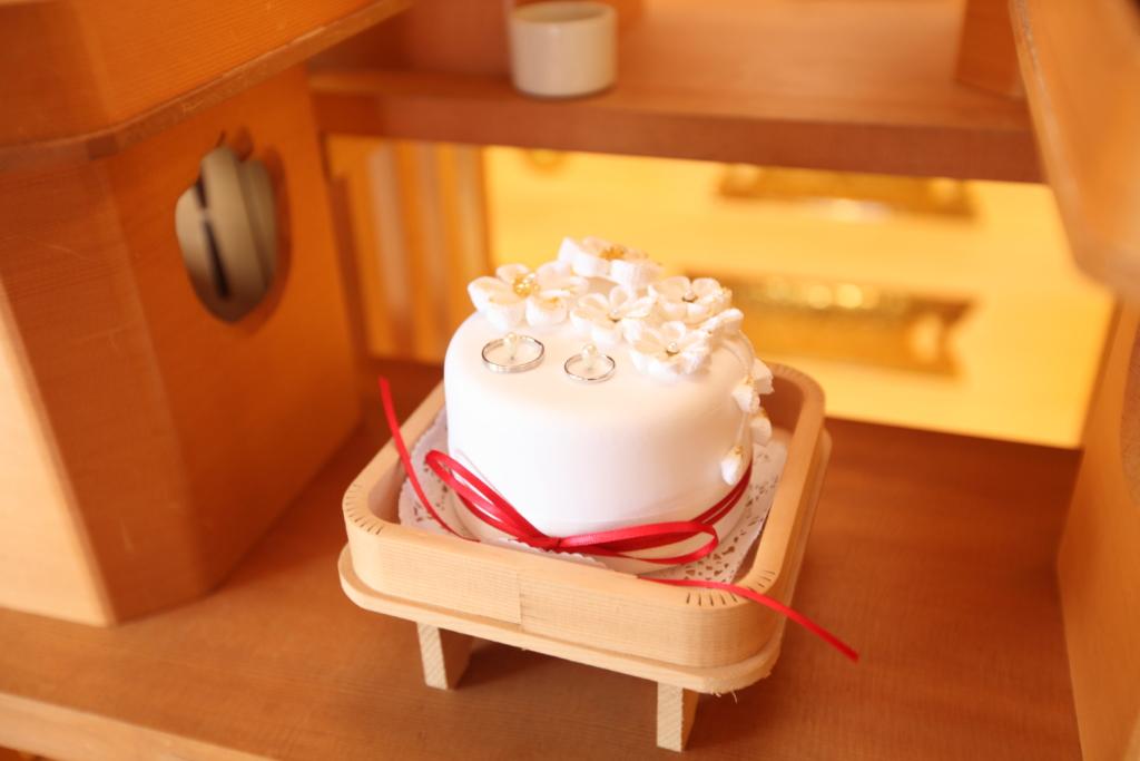 石動神社・神前結婚式・指輪