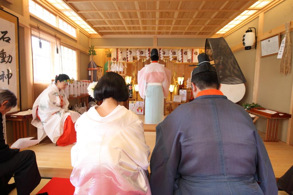 石動神社・神前結婚式・祝詞奏上2