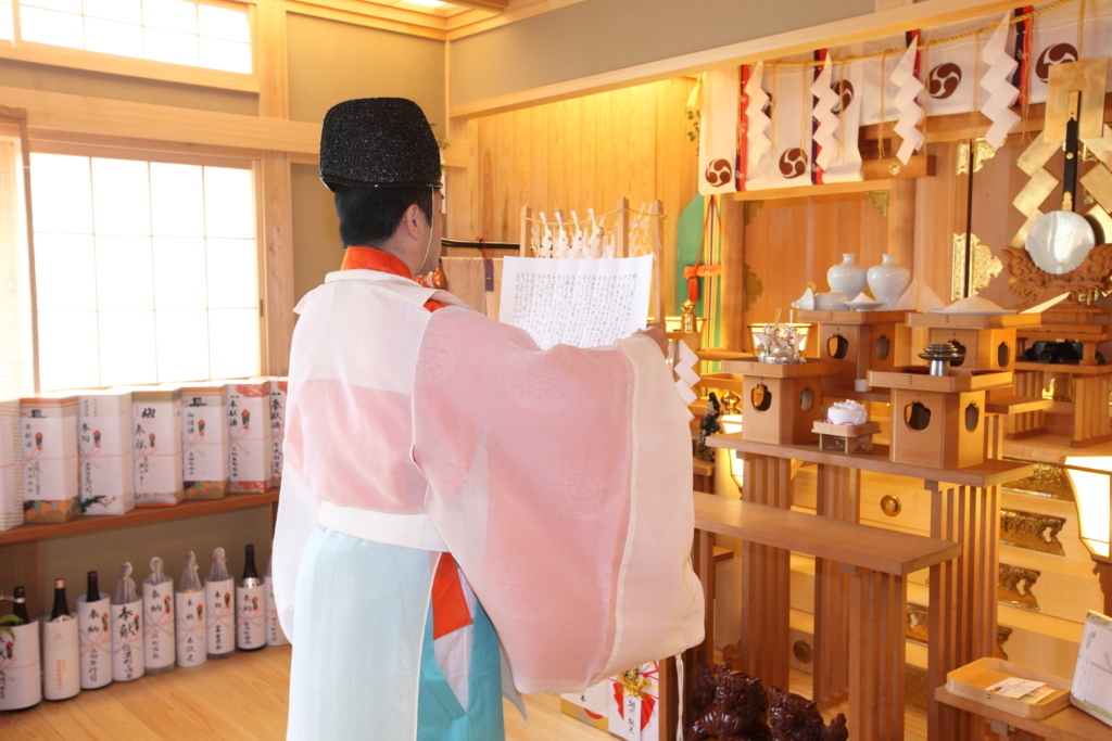 石動神社・神前結婚式・祝詞奏上