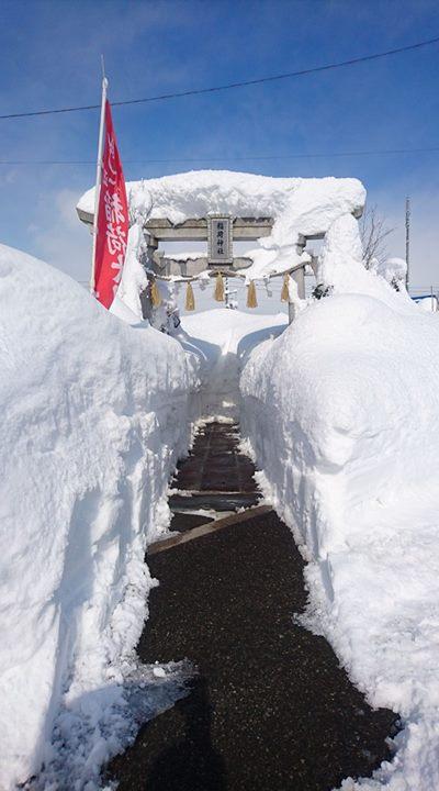 『稲荷神社・除雪』