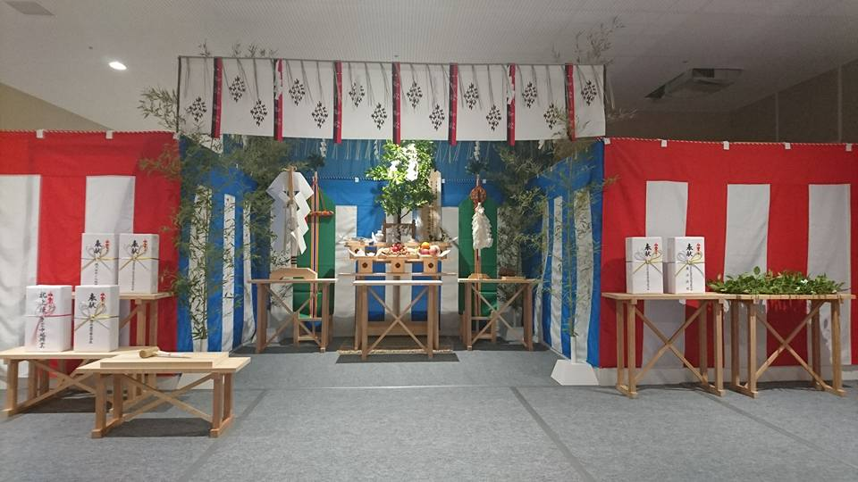 小千谷・石動神社・上棟祭