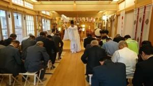 小千谷・石動神社・交通安全祈願祭・長岡地区神道青年会